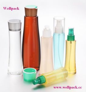 120ml Pet Bottle in Green with Sprayer for Skin Care pictures & photos