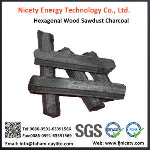 Machine Made Hexagonal Hardwood Sawdust Barbecue Charcoal