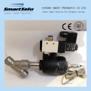 Pneumatic Angle Seat Valve Mounted with Approach Switch and Solenoid Valve pictures & photos