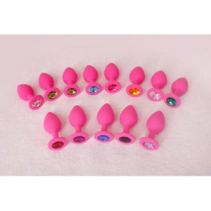10 PCS/Lot Silicone Anal Plug Crystal Anal Toys Butt Plug Medium Size Fetish Adult Products Erotic Sex Toys for Women and Men pictures & photos