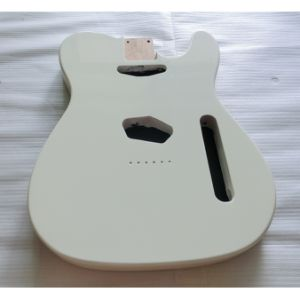 OEM Nitro Satin Finished Vintage White Alder Tele Guitar Body pictures & photos