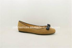Trendy Comfort Flat Leather Women′s Ballerina Pumps pictures & photos