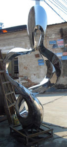 Outdoor Stainless Steel Sculpture, Beautiful Curve of Abstract Art pictures & photos