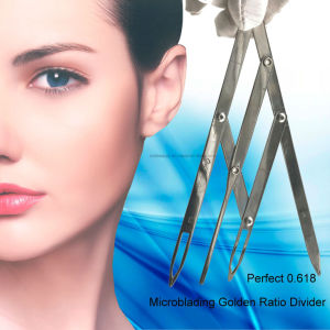 Newest Stainless Steel Microblading Tools Golden Ratio Brow Compass pictures & photos