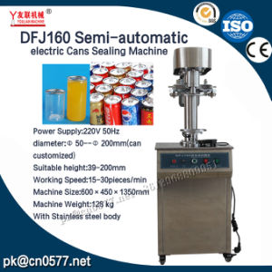 Dfj160 Semi-Automatic Electric Cans Sealing Machine pictures & photos