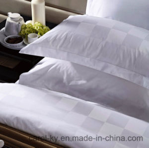100% Cotton 300tc Checkered Hotel Textile Bedding Hotel Bed Linen pictures & photos