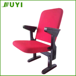 Jy-308 New Desigin Chair with Write Pad China Auditorium Wooden pictures & photos