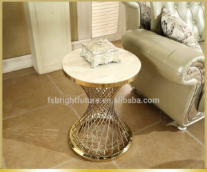 Wholesale Marble Sofa Side Table with Round Frame pictures & photos