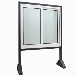 Aluminium Alloy Horizontal Sliding Sash Glass Window pictures & photos