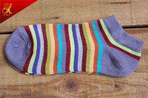 Popular Custom Women′s Fashion Colorful Stripe Socks pictures & photos