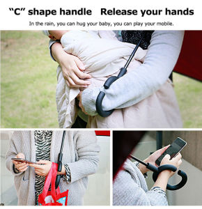 C Shape Handle Manual Reverse Straight Cars Umbrella (JL-MRV102) pictures & photos