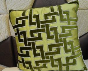Embroidery Decorative Cushion Fashion Velvet Pillow (EDM0322) pictures & photos