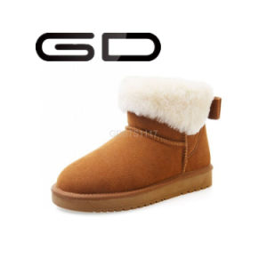 Customized Fur Flat Winter Boots for Women pictures & photos