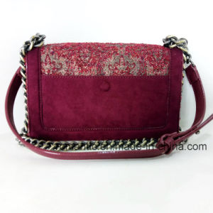 Elegant Design Lady PU Canvas Embroidered Chain Leather Handbags (NMDK-032905) pictures & photos