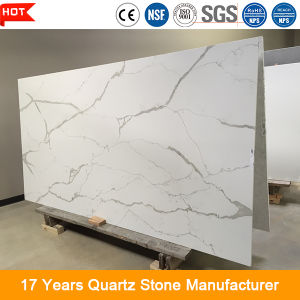 Scratch Resistant Artificial Calacatta Gold Quartz Stone Slab pictures & photos