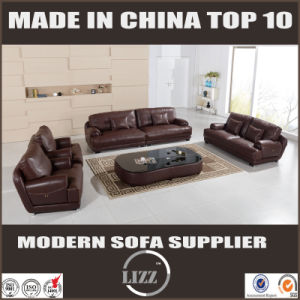 New Design Modern Living Room Furniture Luxury Leather Feather Sofa pictures & photos