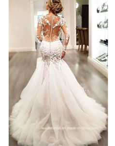 Long Sleeves Bridal Gowns Mermaid Lace Sheer Wedding Dresses Bz2014 pictures & photos