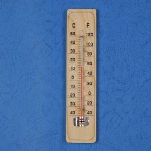 Wooden Indoor Outdoor Wall Mounted Thermometer pictures & photos
