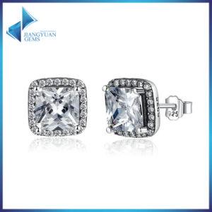 Top Sellers Princess Cut Earrings Women 925 Sterling Silver Earrings pictures & photos