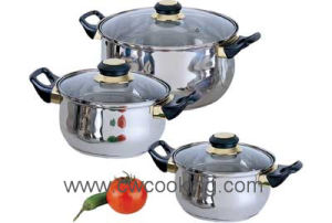 Cookery-6PCS Stainless Steel Cookware Set pictures & photos