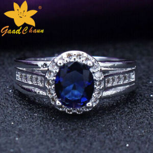 Stsr-16113015 Couples with Stone Sterling Silver Gemstone Rings pictures & photos
