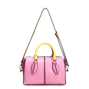 Multicolor Leather Boston Bags Lady Pillow Bags