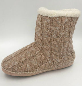 Lds Indoor Light Brown Boots pictures & photos