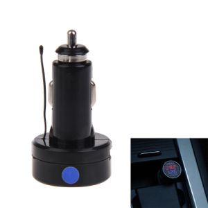Auto Car Cigarette Lighter Dual Display LED Digital Voltmeter Thermometer pictures & photos