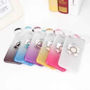 Glitter Bling Sparkly TPU Soft Case for Phone Case with Ring Holder pictures & photos