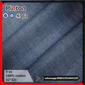 4oz Cheap Price in Stock 100% Cotton Twill Denim Fabric for Jeans Garment pictures & photos