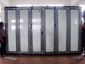 PVC Outdoor Bifold French Door Double Glazed Blinds Inside pictures & photos