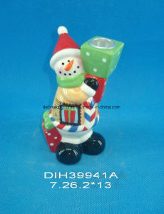 Hand-Painted Ceramic Santa Candle Stand pictures & photos