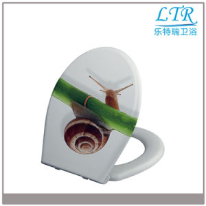 Eco Friendly Top Fixing Printed Toilet Seat pictures & photos