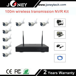 Realtime Waterproof 8channel Wireless WiFi NVR Kit CCTV Camera System pictures & photos