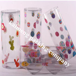 Logo Printed Clear PP Plastic Cylinders with Lids pictures & photos