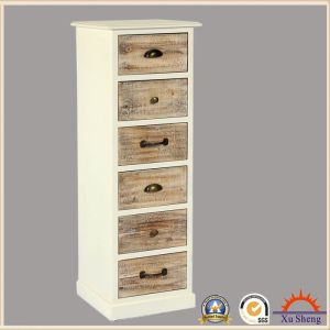 Wooden Vintage Cream French Style 6-Drawer Tall Living Room Cabinet pictures & photos