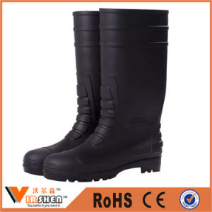Soft Sole Steel Toe Groundwork Rubber Industrial Safety Boots pictures & photos