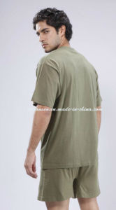 2017 Military Underwear Set in Olive Green V Neck pictures & photos