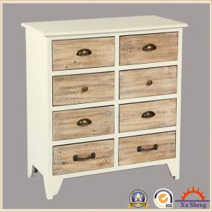 8 Drawer Storage Cabinet with Multicolored Drawer Fronts, White pictures & photos