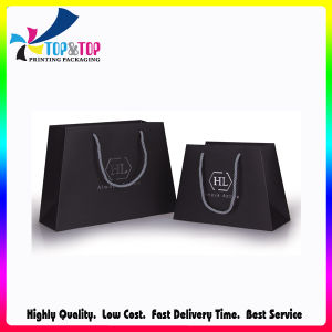 Hot Stamping Logo Trapezoid Shape Paper Bags pictures & photos