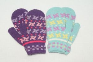 Jacquard Mitten Wool Gloves Touch Screen pictures & photos