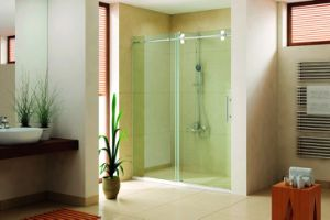 Square Aluminum Profile Shower Room with Sliding Rollers pictures & photos