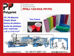PS Material Plastic Sheet Extruder Double Layer pictures & photos