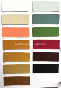 Synthetic Yangbuck PU Leather for Martin Boots Hx-S1712 pictures & photos