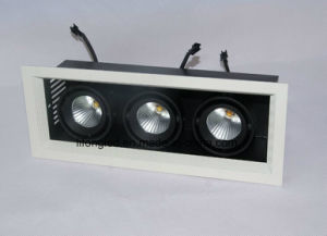 Factory Hot Seller 3 Heads Square LED Grille Downlight, LED Downlight with 3 Years Warranty pictures & photos