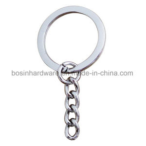 Metall Key Ring with 4 Link Chain pictures & photos