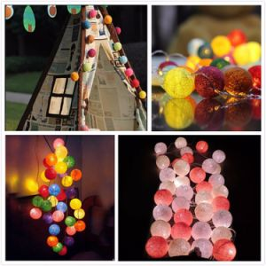Wholesale High Quality Cotton Ball LED String Light for Christmas Wedding Party Decoration pictures & photos