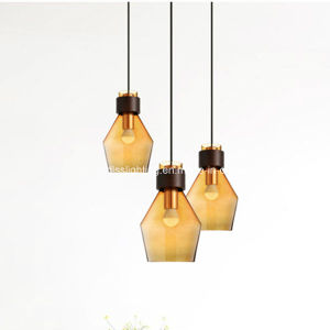 Modern Simple Creative Single Head Colorful Glass Chandelier for Living Room Bar Coffee Shop pictures & photos