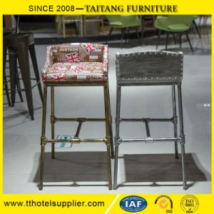 Industrial Style Metal Barstools / Bar Chair with Comfortable Fabric Seat pictures & photos