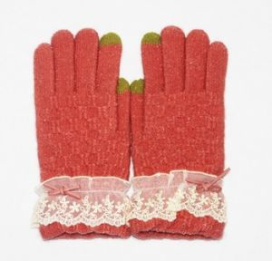 Lace Comfortable Smart Phone Hand Touch Screen Gloves pictures & photos